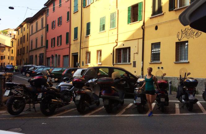Merel van Diemont loopt hard in Bologna